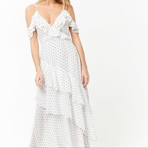 Forever21 Tiered Flounce Polka Dot Maxi Dress